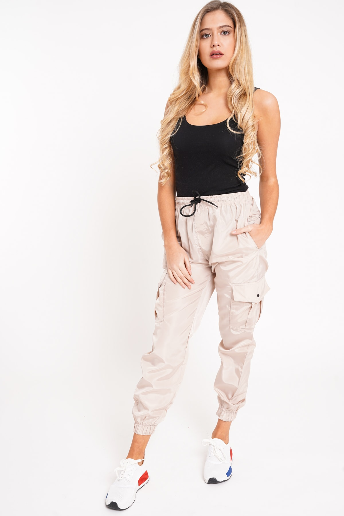 647199110515 Cargo Pocket Shell Suit Cuffed Jogger | Affinity Wholesale Fashion